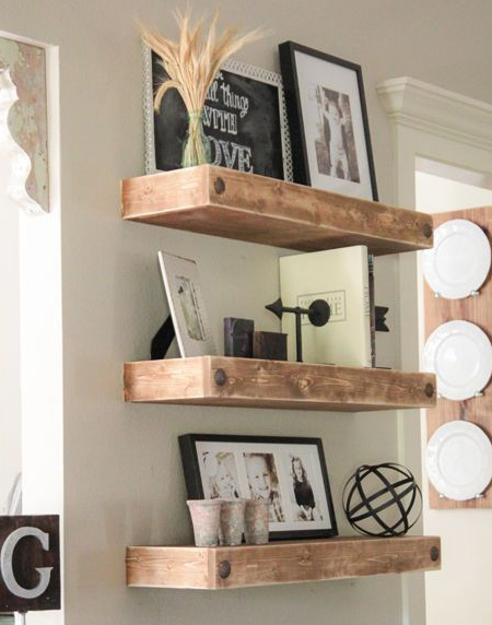Easy floating shelf ideas that you can DIY