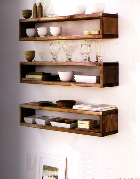 Home dzine home diy easy shelf ideas that you can diy Cool wood shelf ideas