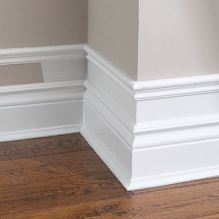 Easy and affordable remodelling ideas faux baseboard or skirtings