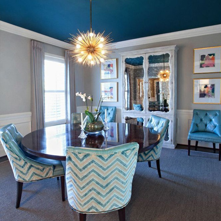 Easy and affordable remodelling ideas painted dark ceiling