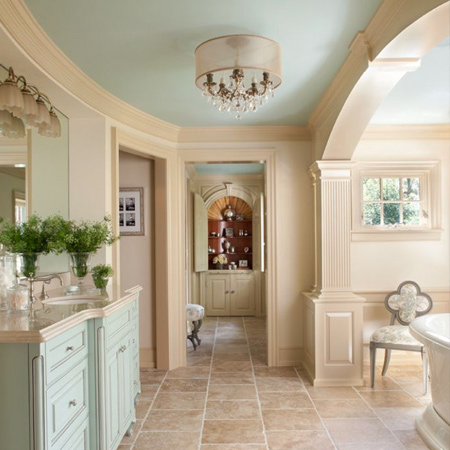 Easy and affordable remodelling ideas painted ceiling