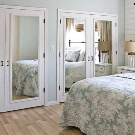 Easy and affordable remodelling ideas closet mirror doors