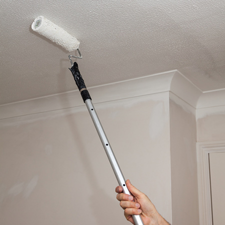 paint ceiling and cover up water or mould stains with prominent paints ceiling paint
