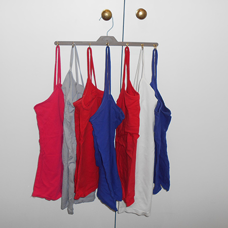 space saving closet ideas make a strappy-T or vest hanger