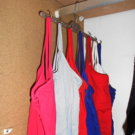 space saving closet ideas make a strappy-Tshirt or vest hanger