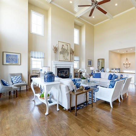 ideas decorating with blue for coastal style living room