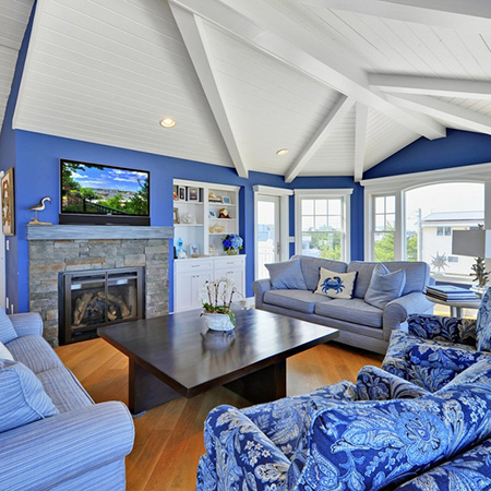 ideas decorating with shades of blue for living room