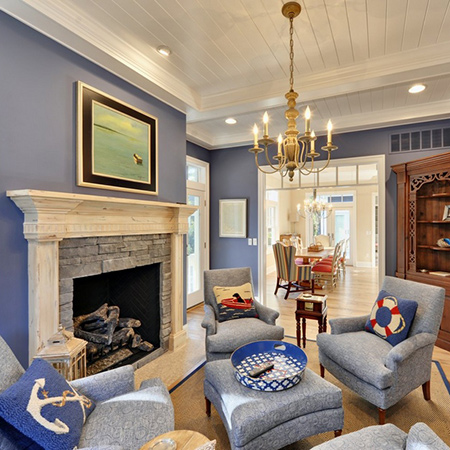 ideas decorating with blue walls for living room