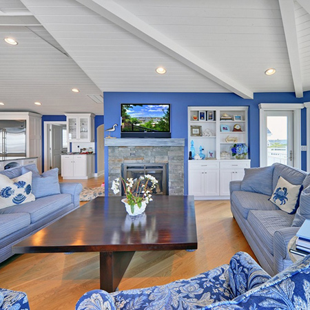 ideas decorating with blue painted walls for living room