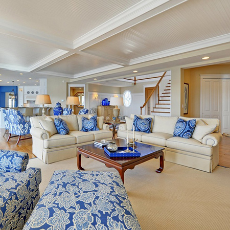 ideas decorating with blue upholstered furniture for living room