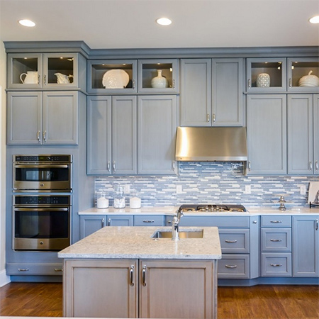 ideas decorating with blue cabinets for kitchens