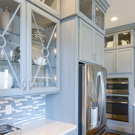 ideas decorating with blue cabinets for kitchen