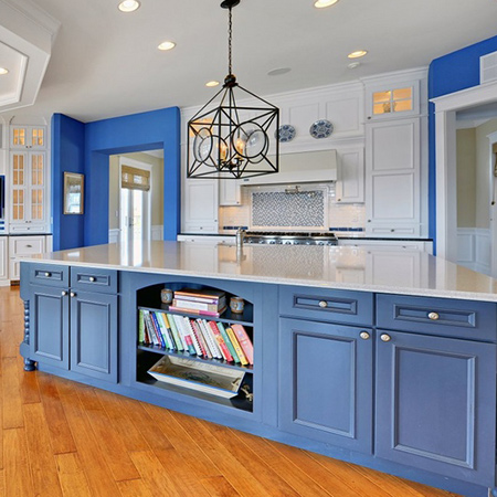 ideas decorating with blue for kitchen