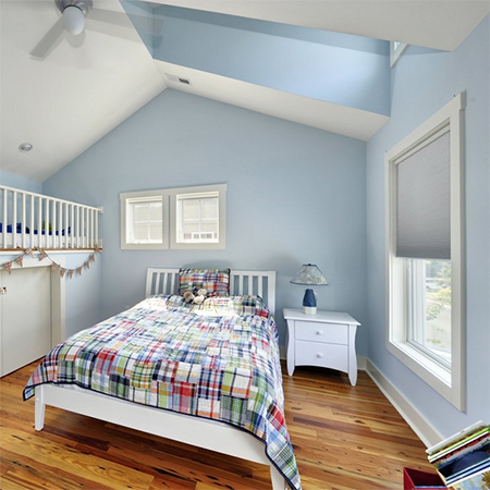 ideas decorating with blue walls for bedroom