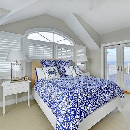ideas decorating with blue bedding for bedroom