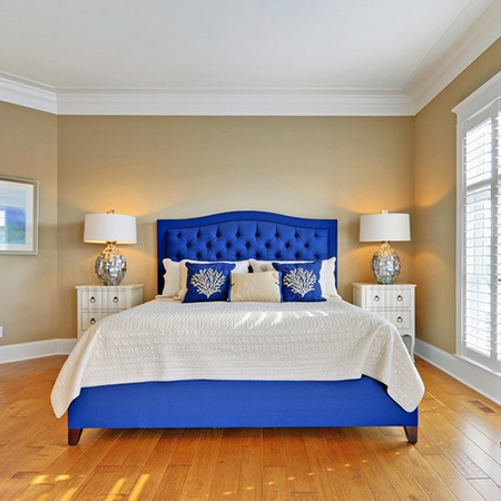 ideas decorating with blue for bedroom
