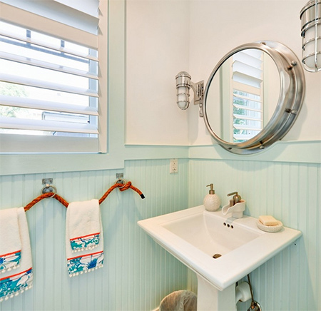 ideas decorating with blue and white for clean fresh bathroom