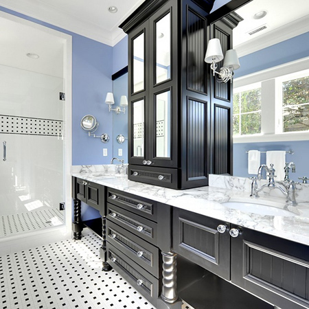 ideas decorating with blue for clean fresh bathroom