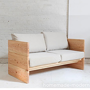 Trendy DIY box sofa