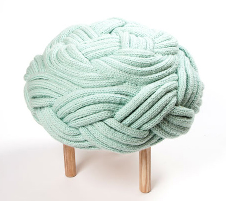 Claire-Anne O'Brien Knit Stools