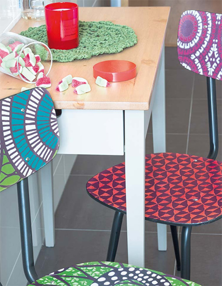 Transform secondhand furniture using paint or contact self-adhesive vinyl.