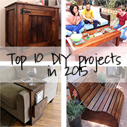 Here's a round up of our Top 10 DIY projects for 2015