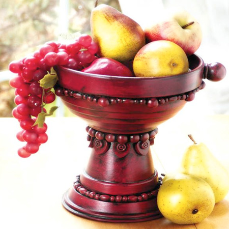 terra cotta pots to make a fruit display stand