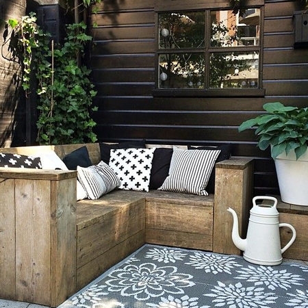 reclaimed timber garden benches