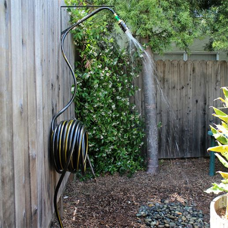 HOME DZINE Garden Ideas Recycled aluminiun can garden shower