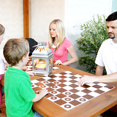 Make a diy family games table