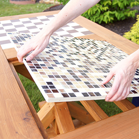 Make a diy family games table with reversible games boards