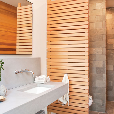 Naturally modern wood homes timber privacy screen