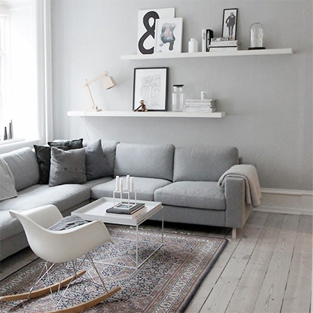 50 shades of grey living room