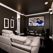 Enjoy entertainment at home with a home theater