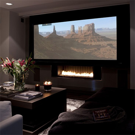 home theater media or entertainment room setting up a space