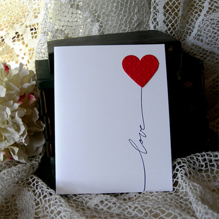 make your own valentine card decor