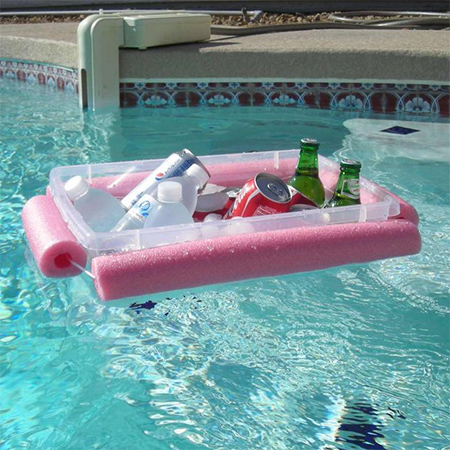 Home Dzine Craft Ideas Pool Noodle Pool Bar