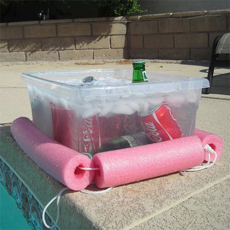 make a pool noodle pool bar