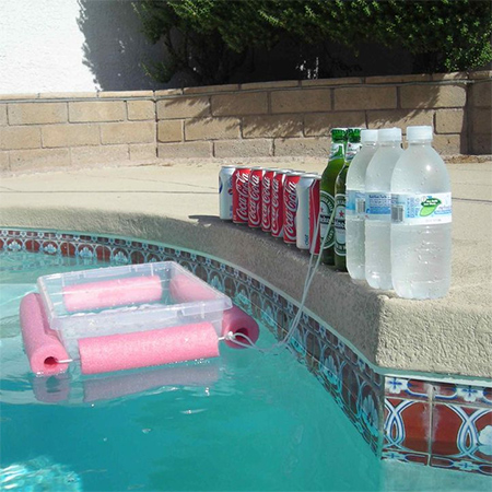diy pool noodle pool bar
