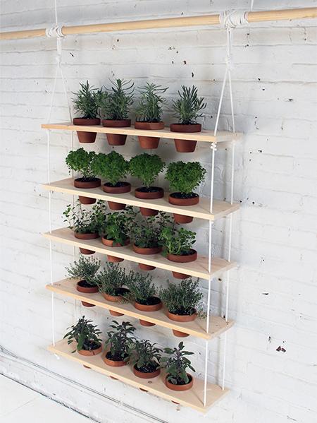 Home Dzine Garden Ideas Hanging Herb Garden