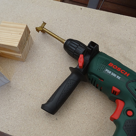 diy make a wooden ring box bosch compact drill and MAD bit