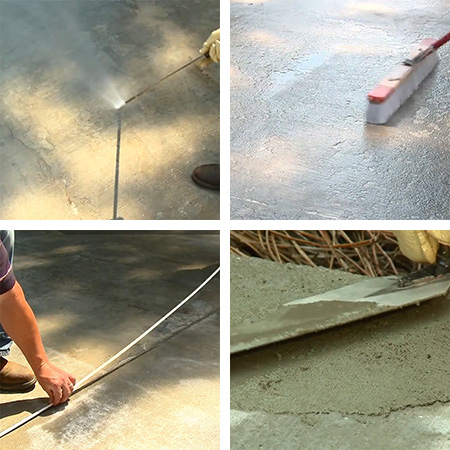 fix and repair flaking, cracked or spalled concrete