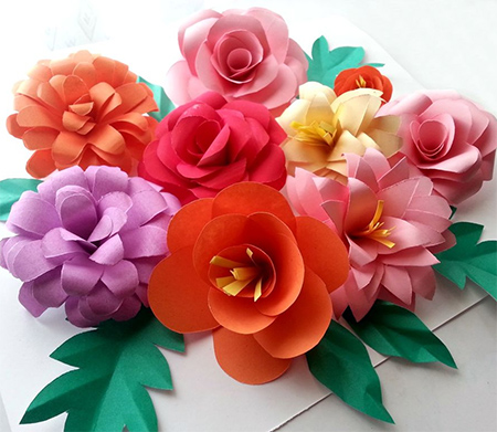 Home dzine crafts use coloured card to make fun flowers rolled paper card pretty colourful flower ideas mightylinksfo