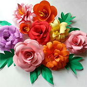 Use card to make beautiful flower arrangements