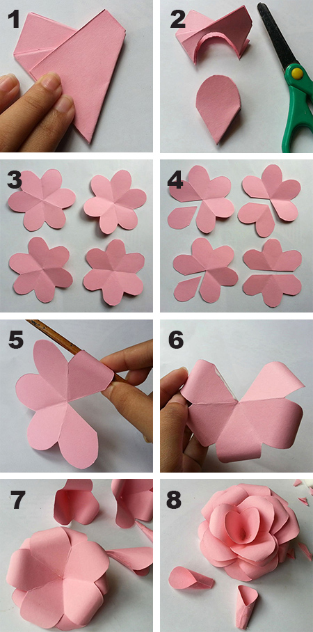 Home dzine crafts use coloured card to make fun flowers use coloured card to make fun flowers mightylinksfo