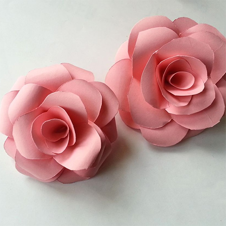 rolled paper card pink roses colourful flower ideas