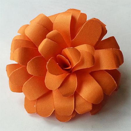rolled paper card colourful flower ideas
