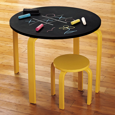 rustoleum chalkboard spray or paint on a table