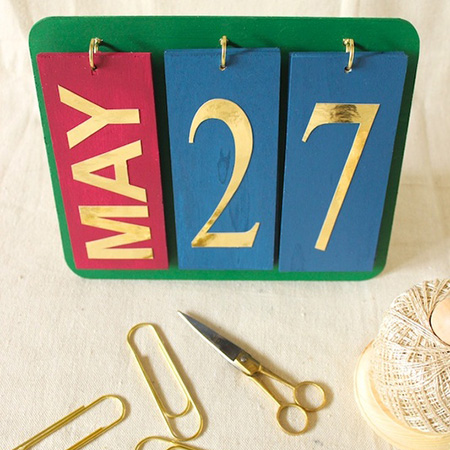 Home Dzine Crafts And Hobbies | Make A Perpetual Calendar