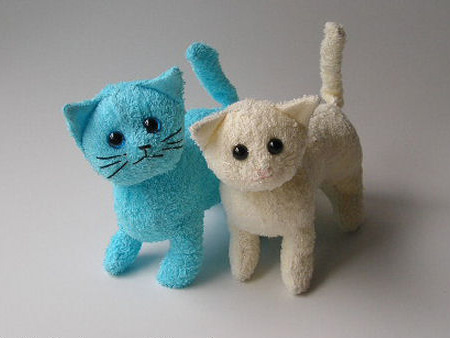 recycle old towel into cute kitty childrens soft toy